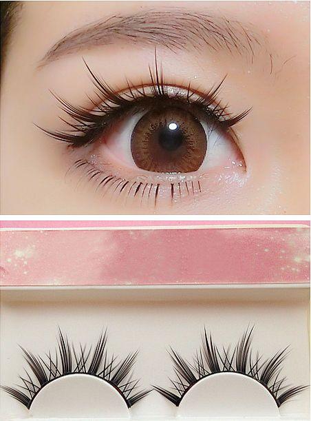 Details about Natural Long Cosplay Lolita Makeup Cross Strip False Eyelashes Black Eye Lashes