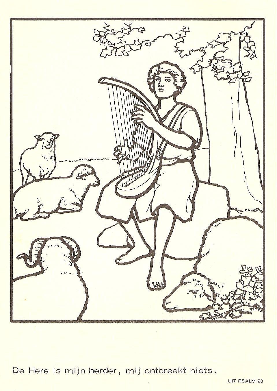 david speelt op de harp kleurboekje nr 2 kleurboek oude