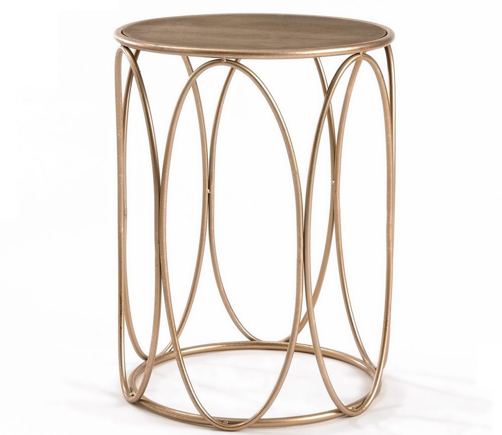 side small accent with hand rustic table nightstands for nightstand occasional painted gold coffee end tables spaces round