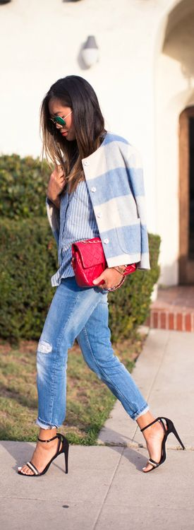 Checkered, Stripes, and Denim  Song Of Style