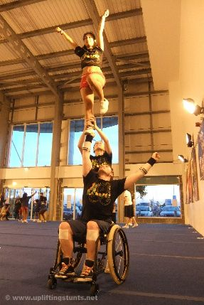 Acrobatics . Yoga . Cheerleadig Inspiration Wheelchair fashion>>> See it. Believe it. Do it. Watch thousands of spinal cord injury videos at SPINALpedia.com