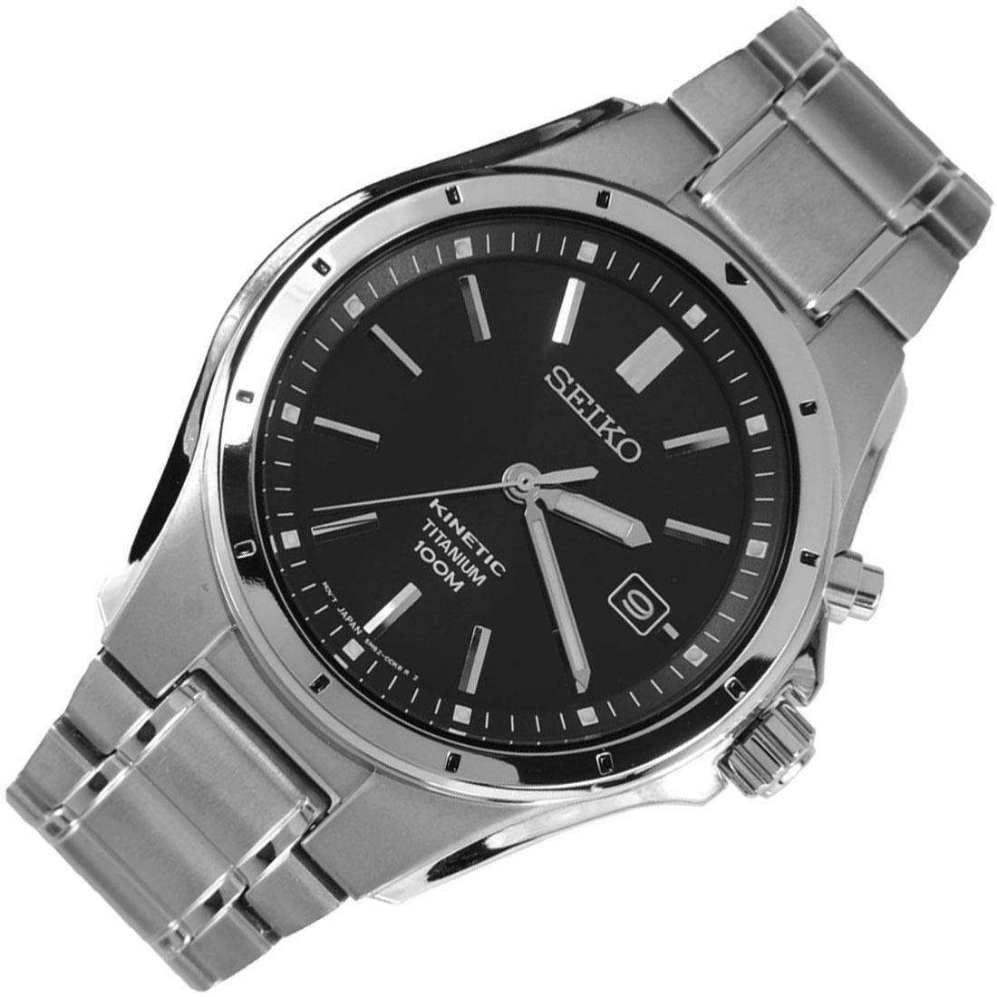 Seiko kinetic ska493p1 ska493 mens titanium watch seiko titanium watches seiko watches for Titanium watches