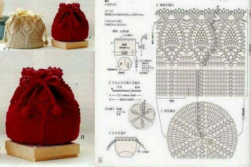 Elegante puntada | crochet bolsas | Pinterest | Puntadas, Elegante y ...