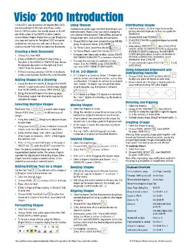 microsoft visio 2010 introduction quick reference guide cheat sheet rh pinterest com Quick Reference Guide Examples Quick Reference Guide Design Templates