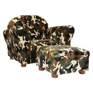 Home Chair And Ottoman Set Camo Furniture Kids Chairs