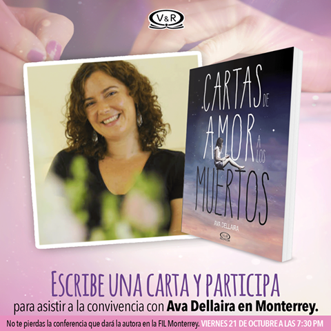 Participa y conoce a Ava Dellaira  Detalles en: https://www.facebook.com/VREditorasYA/photos/a.561050830690337.1073741828.543028182492602/969267223202027/?type=3&theater