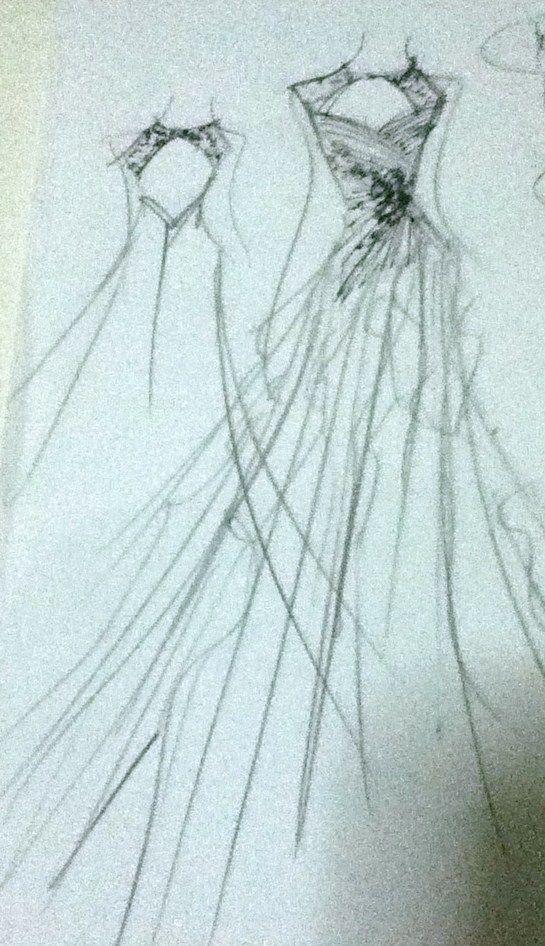 Bridal gown sketch | D+C Wedding | Pinterest | Bridal gowns ...