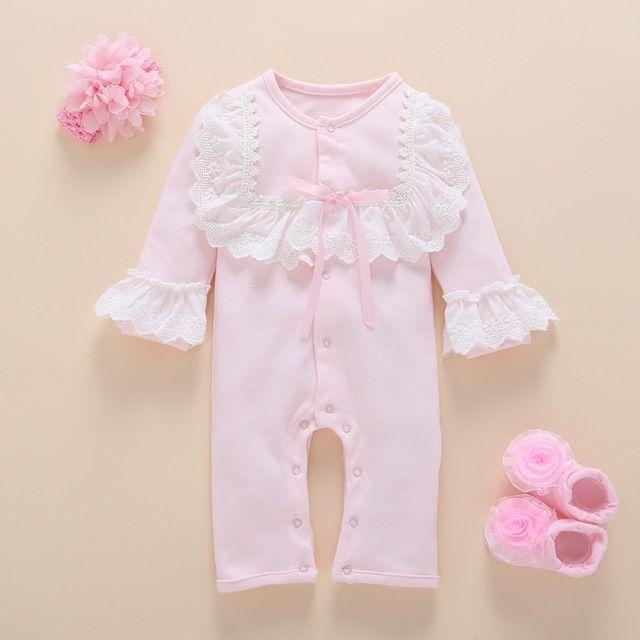 e76bbf1f39d5 Check lastest price Newborn Baby Girl Clothes photography Set Autumn ...
