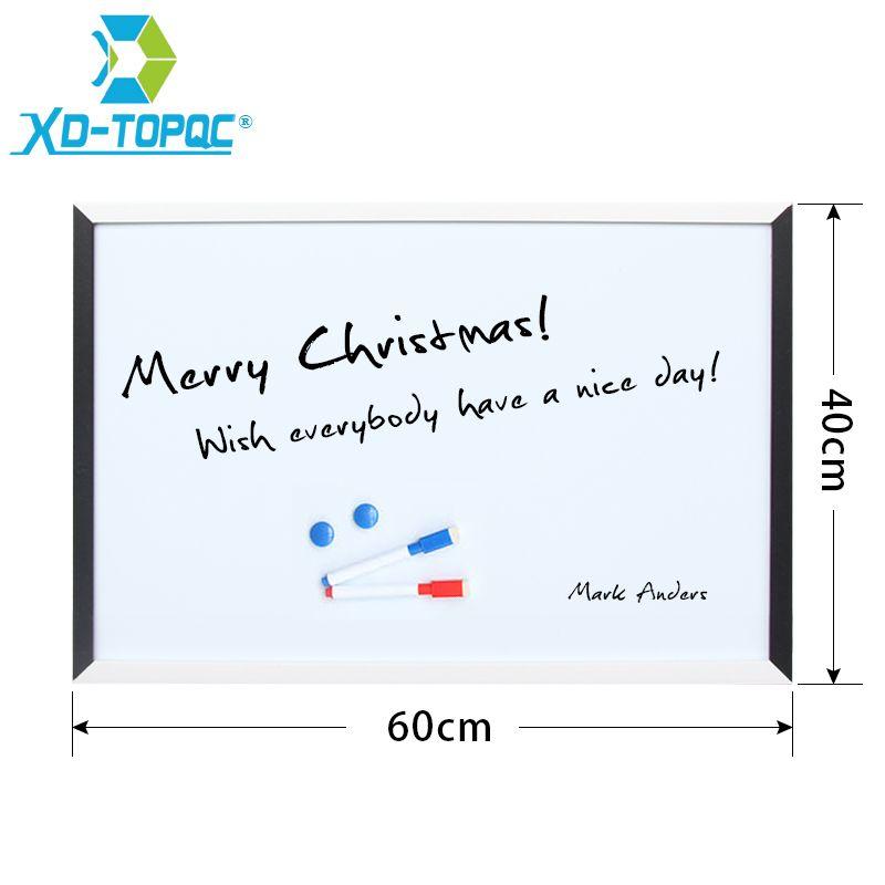 XINDI Nuovo 40*60 cm Magnetico Bianco Bordo MDF Black & White Frame ...