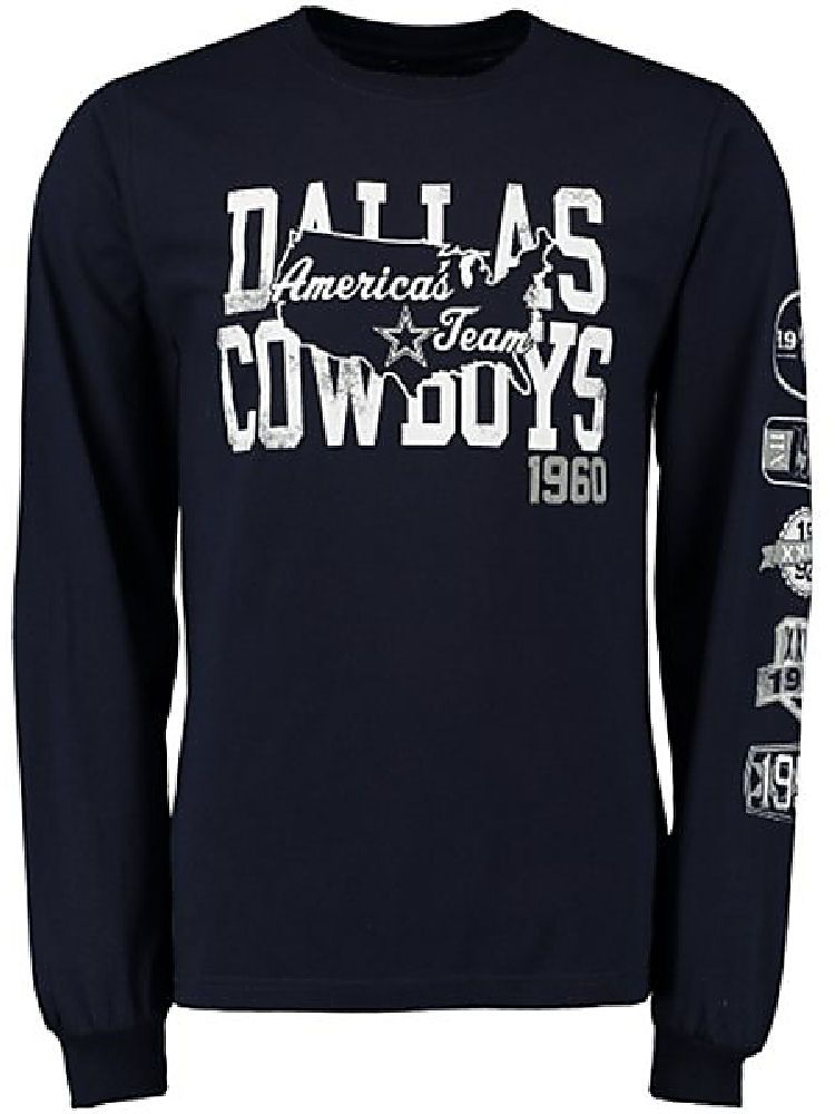 Dallas Cowboys Mens America s Team Patches Long Sleeve Tee