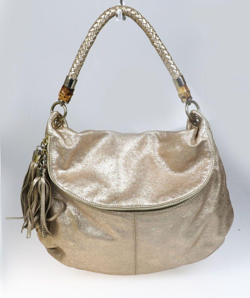 Elaine Turner Gold Metallic Leather