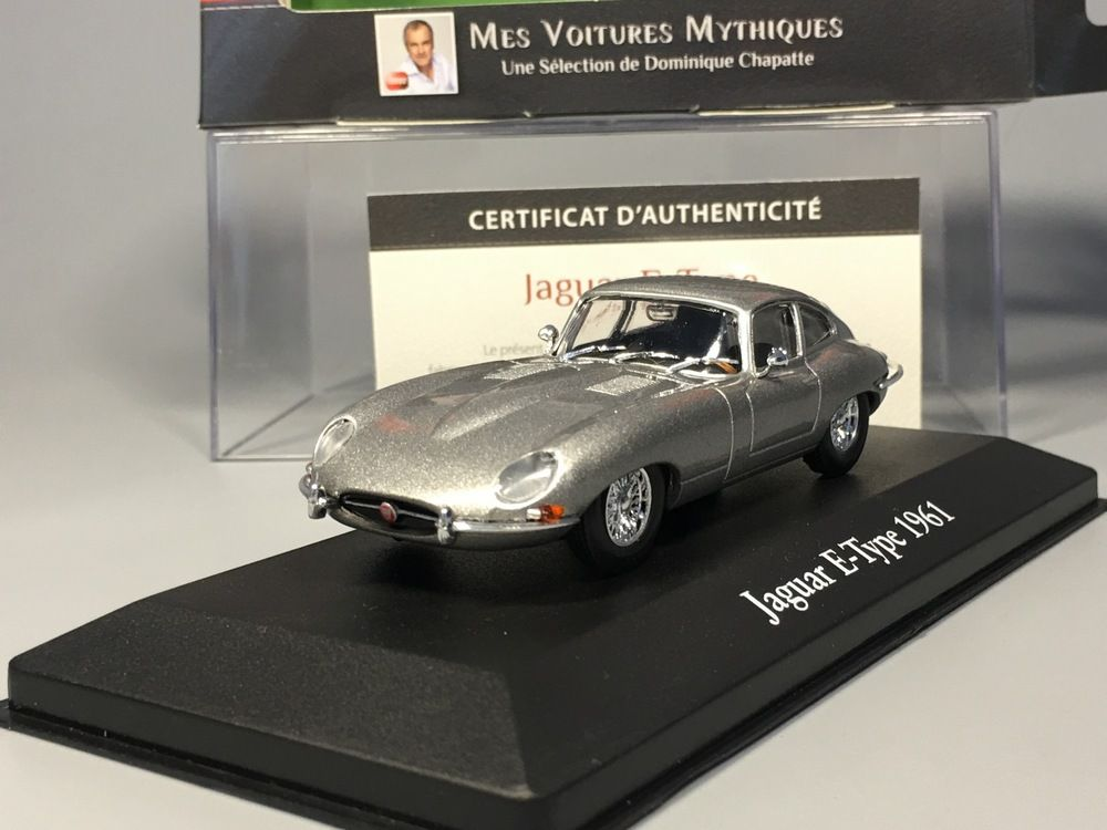 Jaguar E-Type Coupe Baujahr 1961 british racing grün 1:43 Atlas