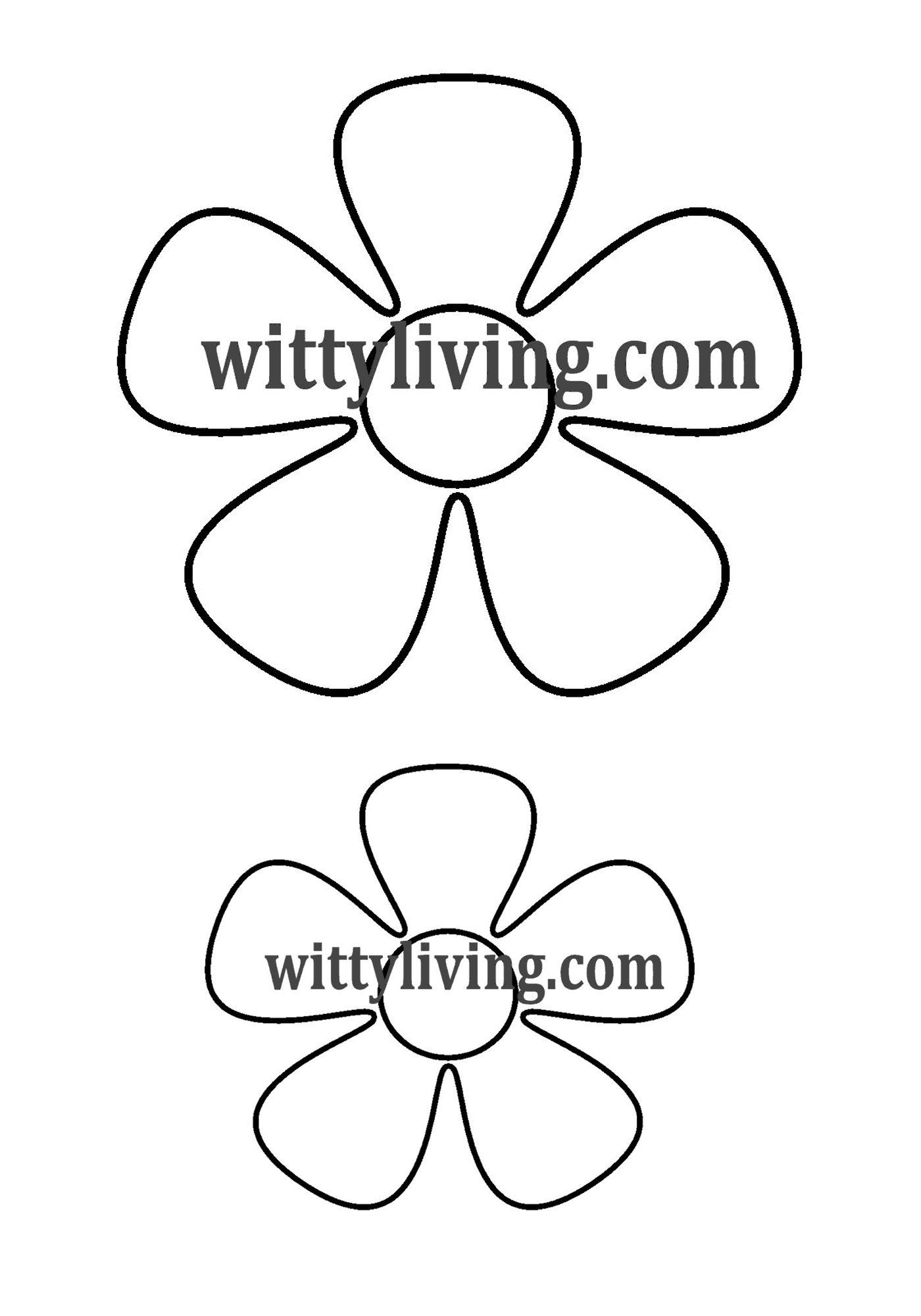 Smaller Flower Template