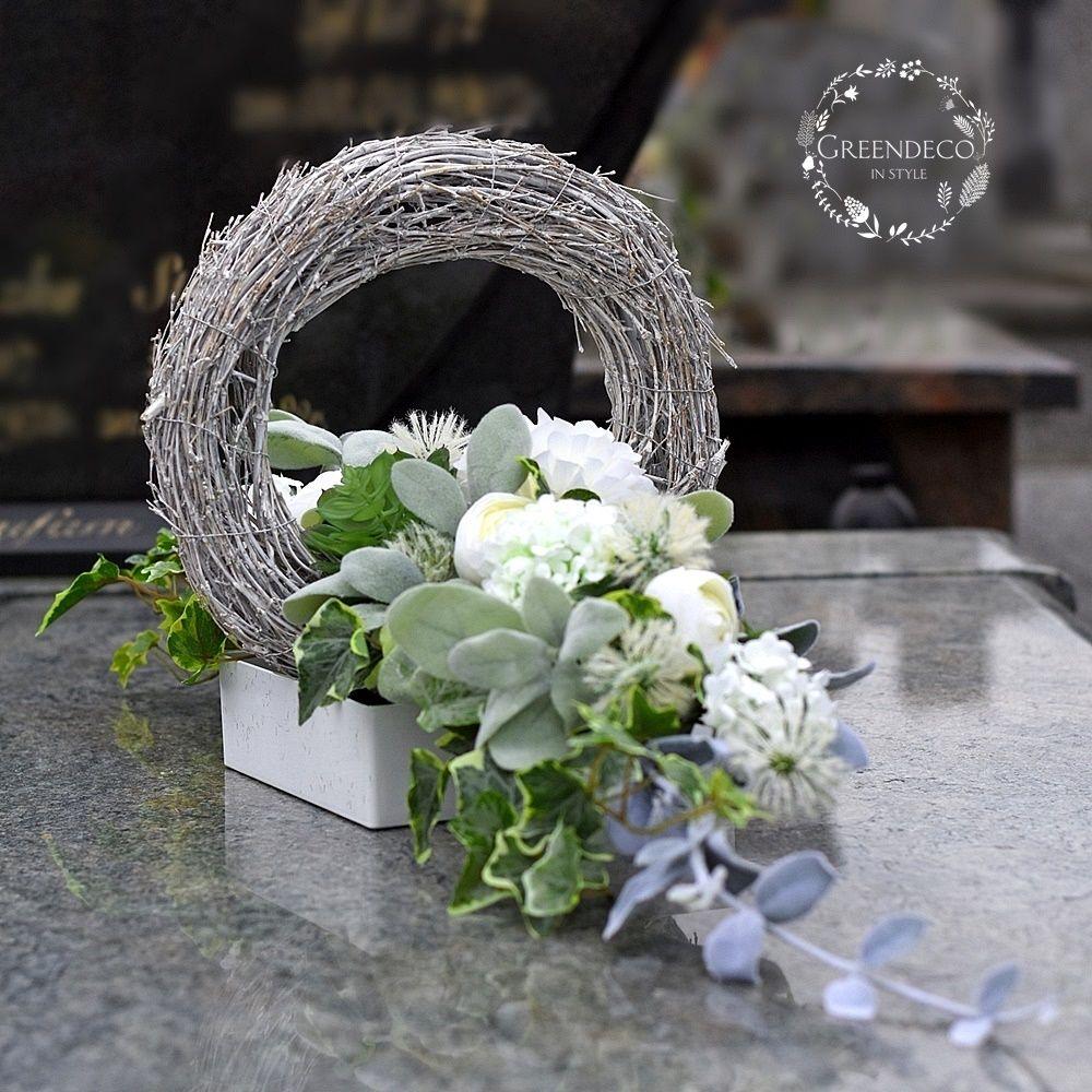 Dekoracja Nagrobna Kwiaty Sztuczne Funeral Flowers Funeral Flower Arrangements Modern Flower Arrangements