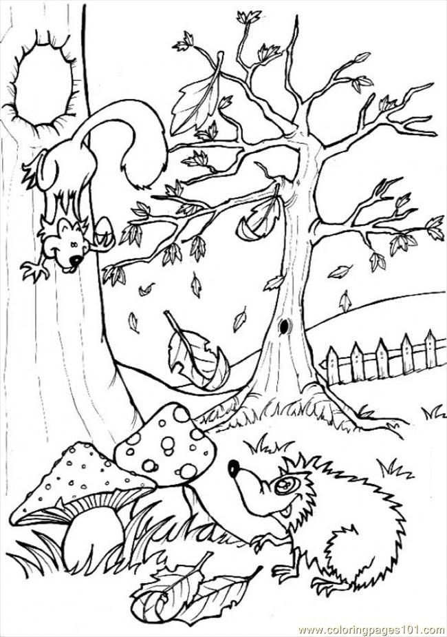 Forest Scene Coloring Pages Годишни времена сезони