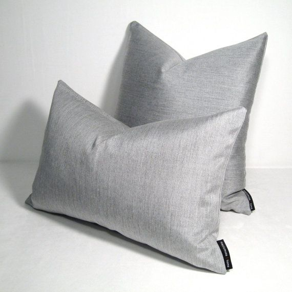 silver grey outdoor pillow cover decorative pillow cover dove gray throw pillow cover granite sunbrella modern cushion cover mazizmuse