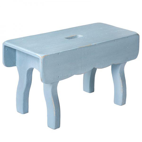 Schemel Step Pall blue - Storebror #rustic #folksy #wood #stool #footstool #shabby