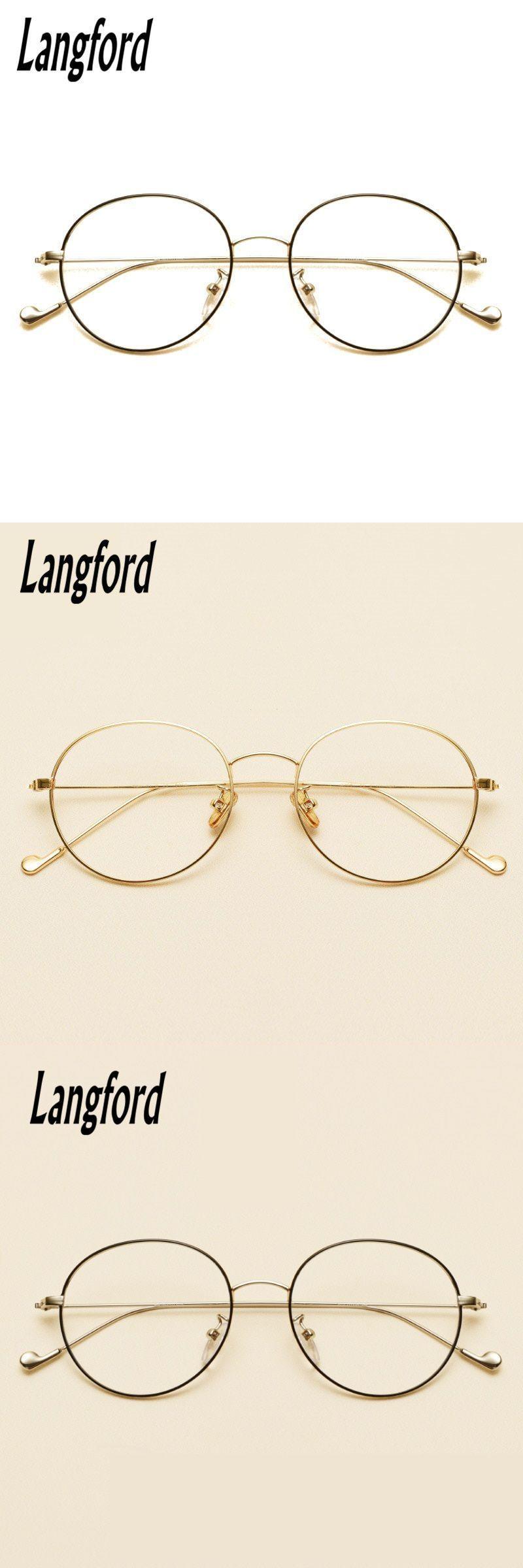 680e74e946 Brand vintage round optical frames big hipster glasses slim light round  eyeglasses frame gold prescription 2708  eyewear  accessories  frames   women  solid ...