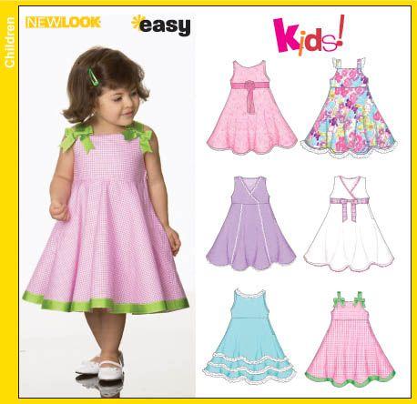 New Look 6688 Toddler Dresses   Cora   Pinterest
