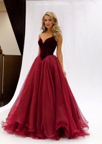 Burgundy Tulle Dress Uk, Ball Gown Dress Uk, Cheap Dress Uk | Party ...