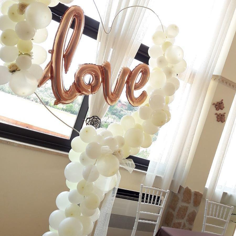 Cuore Di Palloncini Con Scritta Love Per Matrimonio Palloncini Matrimonio Palloncini Nozze