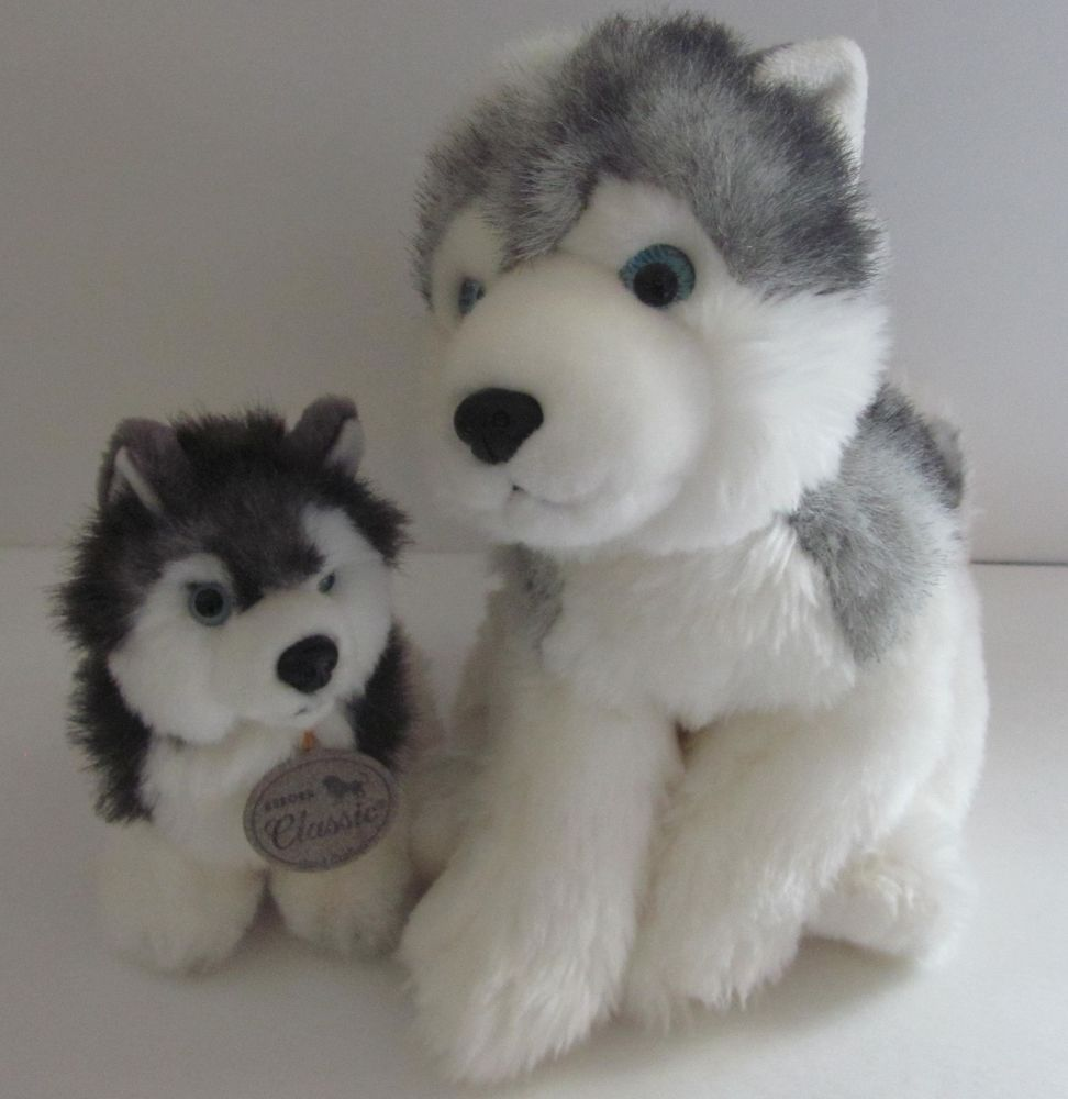 Aurora Siberian Husky Dog Plush Stuffed Animal Wolf Malamute Lot