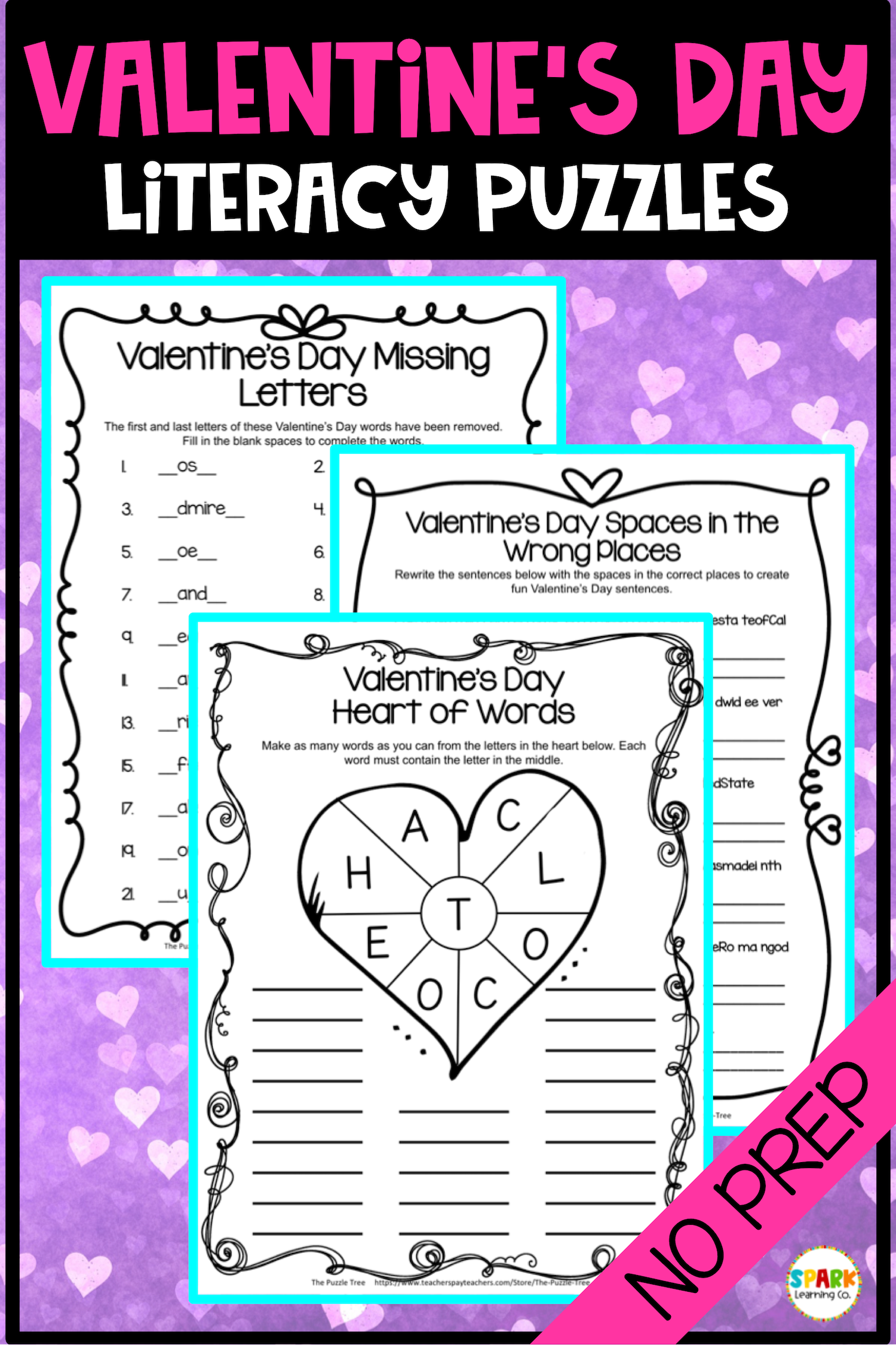 Valentine S Day No Prep Worksheets Valentine S Day