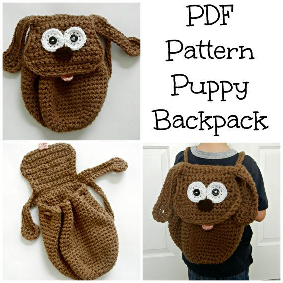 Puppy Dog Toddler Backpack PDF Pattern Crochet by abbycove on Etsy ...
