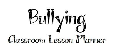 Bullying Classroom Lesson Planner Printable