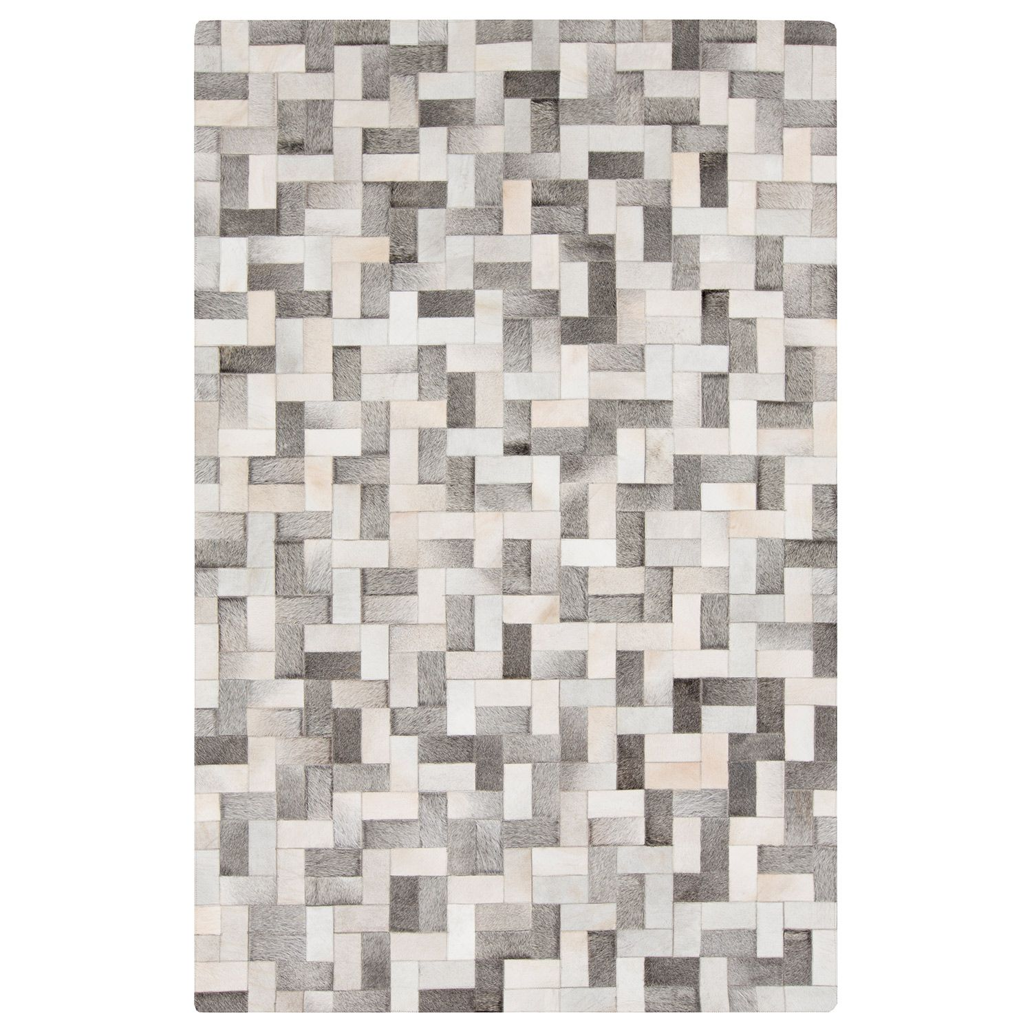 Surya Outback Light Gray Taupe Hide Rug Area Rugs Leather Rug Cowhide Leather Rug