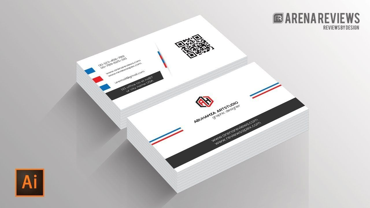 How To Design Business Card Template Illustrator Cc Tutorial With Business Card Maker Template Printing Business Cards Business Card Maker Business Card Design