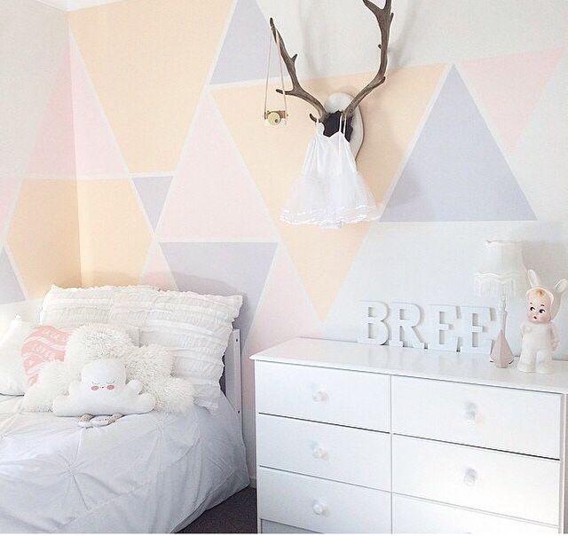 Wandgestaltung, Kinderzimmer, Deko, Wand Ideen, Babyzimmer, Großes Mädchen  Zimmer, Wandfarben, Moderne Kinder, Spielzimmer
