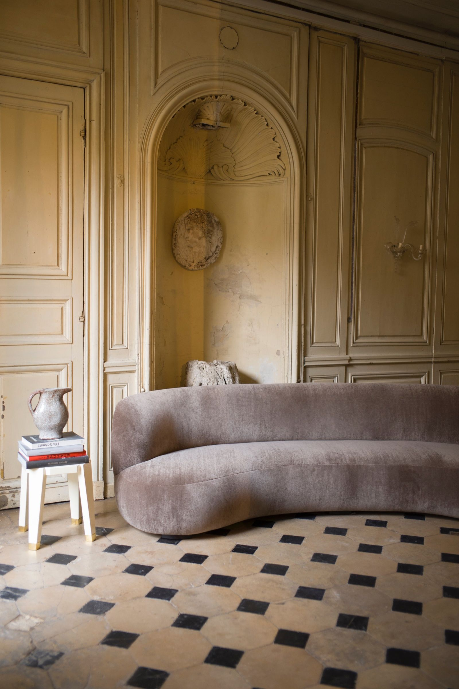Sofa 280 Pierre Augustin Rose Canape Arrondi Deco Design