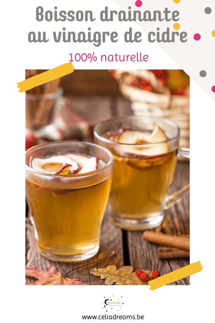 Recette de boisson détox au vinaigre de cidre aux vertus