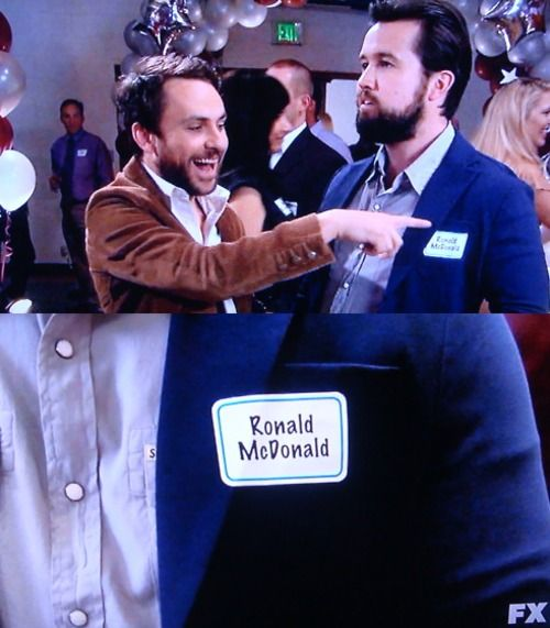 Image result for ronald mcdonald it's always sunny in philadelphia