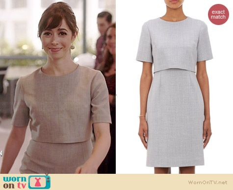 Zelda s grey layered short sleeve dress on A to Z. Outfit Details  http  463d1dfa9