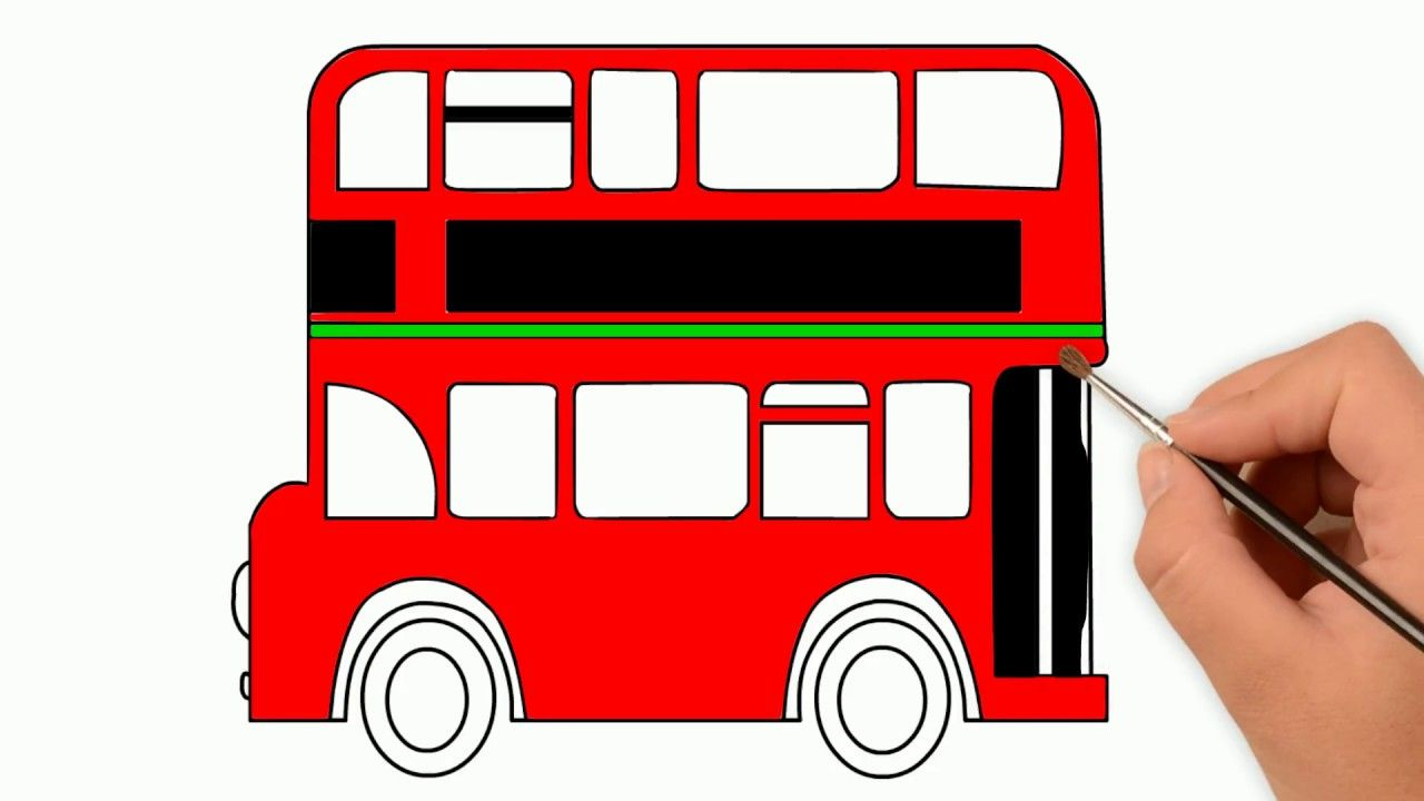 Double Decker Bus Colors Double Decker Bus Coloring Pages How