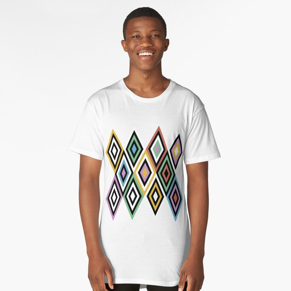 Geometric illusion background in the style of hippies long t