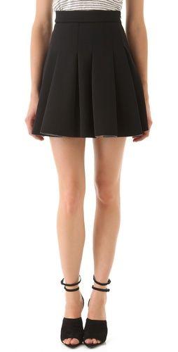 47a83ac8398 T by Alexander Wang Neoprene Box Pleat Skirt