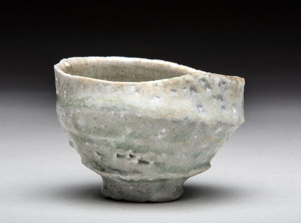 Natural Ash Guinomi Sake Cup Keramik