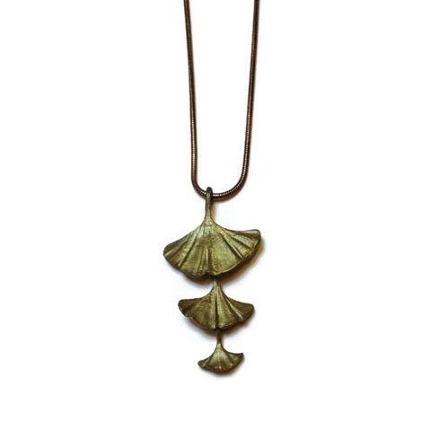 Silver Seasons - Michael Michaud - Gingko Three Leaf Pendant
