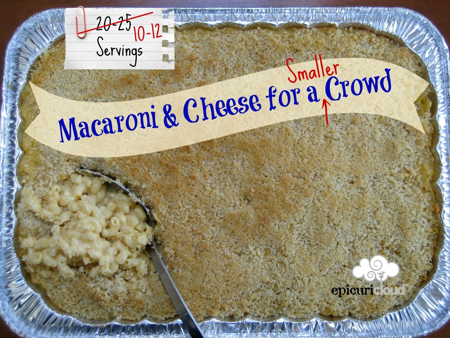 Macaroni and Cheese for a Smaller Crowd Recipe - epicuricloud