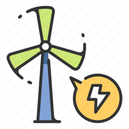Electricity Energy Environment Power Turbine Wind Windmill Icon In Icon Turbine Windmill
