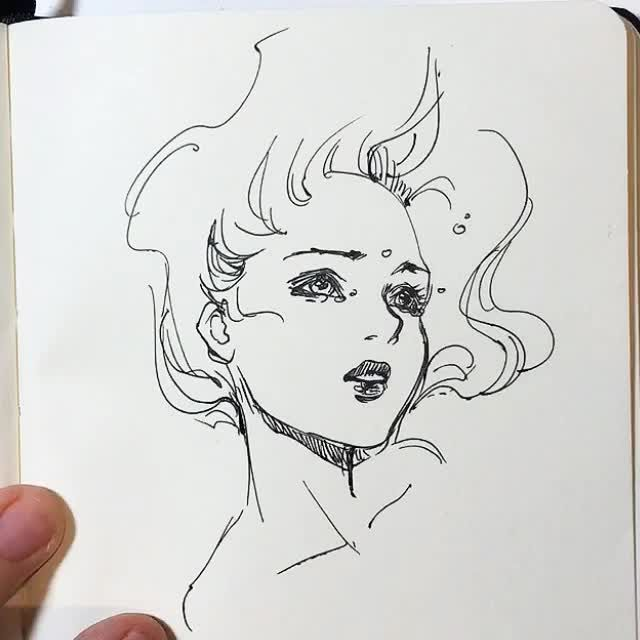 �drowning� some 45 min nopencil pen sketching this is a