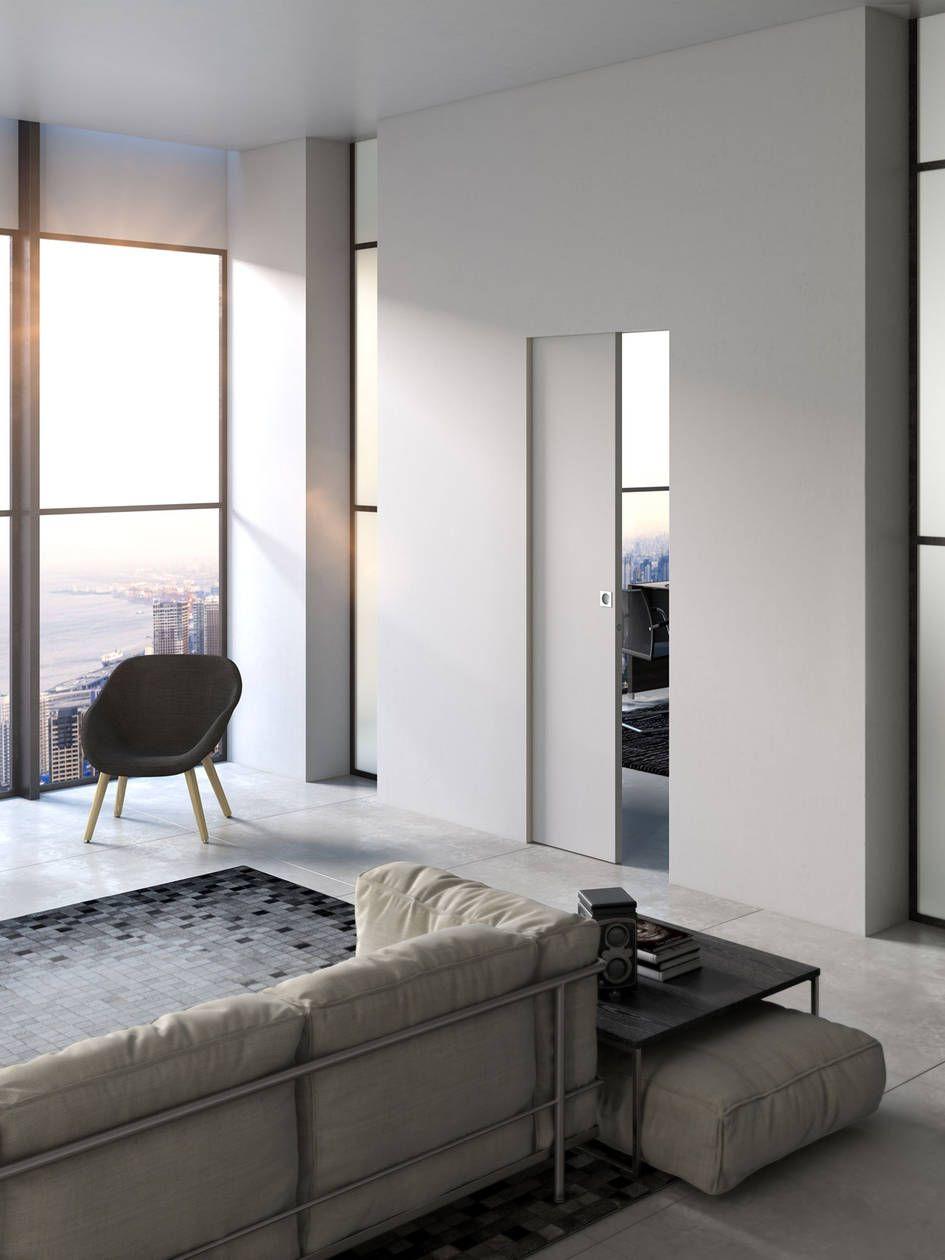 Essential Coulissante Portes Coulissante Pour L Interieur Contre Chassis Pour L Interieur Scrigno Porte Coulissante Deco Appartement Porte Galandage