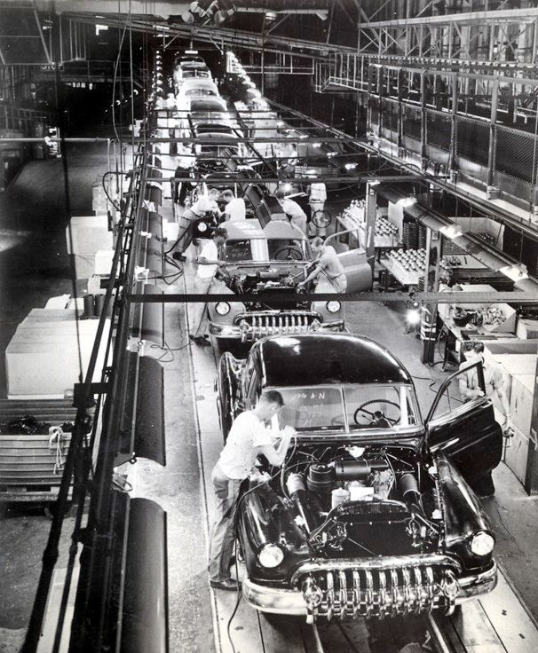 Buick Dealers In Nc: 1950 Buick Assembly Line