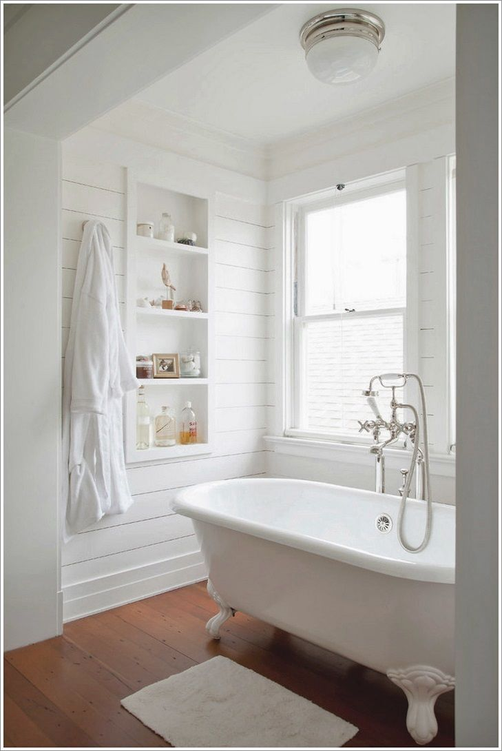 like paneling and clawfoot tub, etc