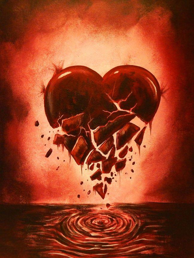для фотки картинки разбитое сердце в приложении кулешова старается