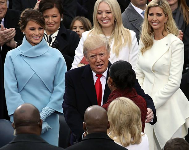 S first lady michelle obama greets presidentelect donald trump as s first lady michelle obama greets presidentelect donald trump as melania trump tiffany trump and ivanka m4hsunfo