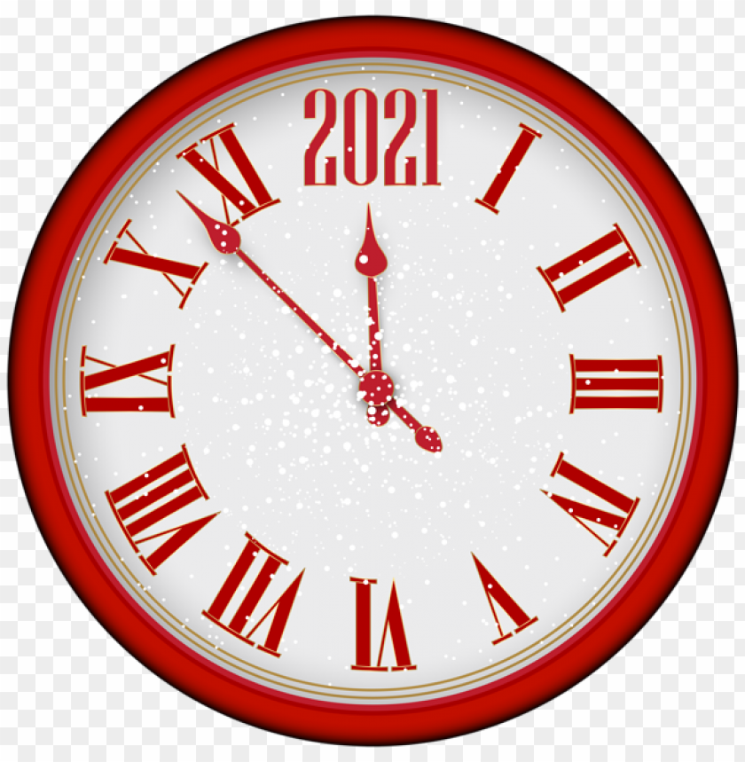 2021 New Year Red Clock Tree Png Png Image With Transparent Background Png Free Png Images Happy New Year Png Red Clock Clock